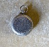 A 935 Silver Fob Watch having white enamel dial with Roman numera