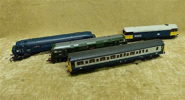 A Lima 33025 Locomotive, a Lima W55026 Locomotive Carriage and ma