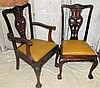 A Set of 10 Early 20th Century Mahogany Chippendale Style Dining