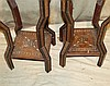A Pair Eastern Square Torchere having all over inlaid parquetry,