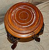 A Reproduction Mahogany Round Jardinière Stand on 3 cabriole legs