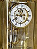 A Large Oval Brass 8 Day Striking Visible Movement Mantle Clock h