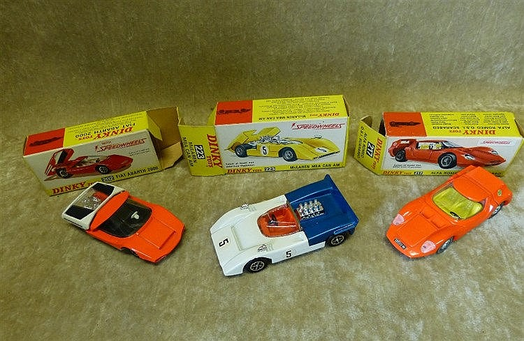 3 Boxed Diecast 1970's Dinky Cars