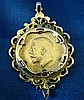 A George V Gold Sovereign mounted in 9ct gold removable pendant,