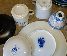 A 19th Century China Tea Service on white, green and blue ground having ori