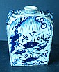An Oriental Moon Flask on blue and white ground