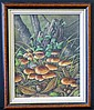 Edwin Cripps, Oil on Board depicting mushrooms, Edwin Cripps, Click for value