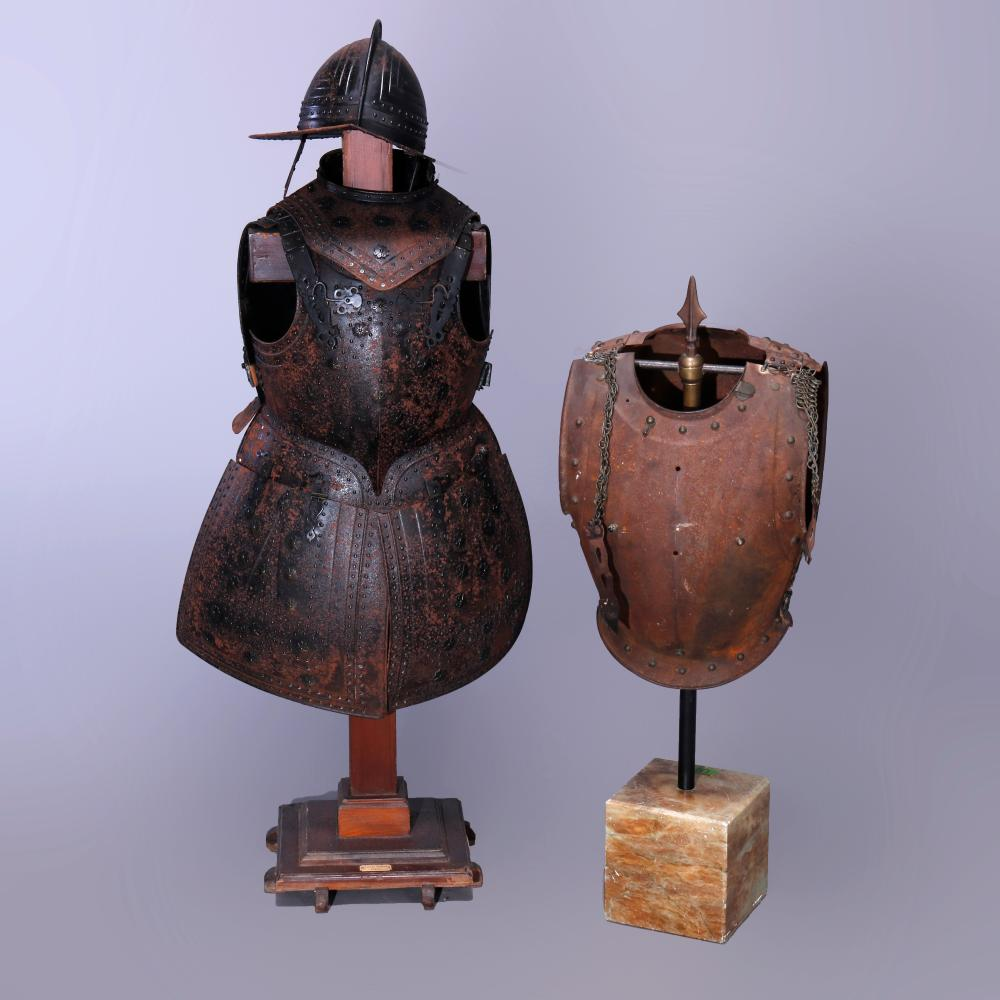 """Antique Early English Iron Battle Armour """"17thC"""""""