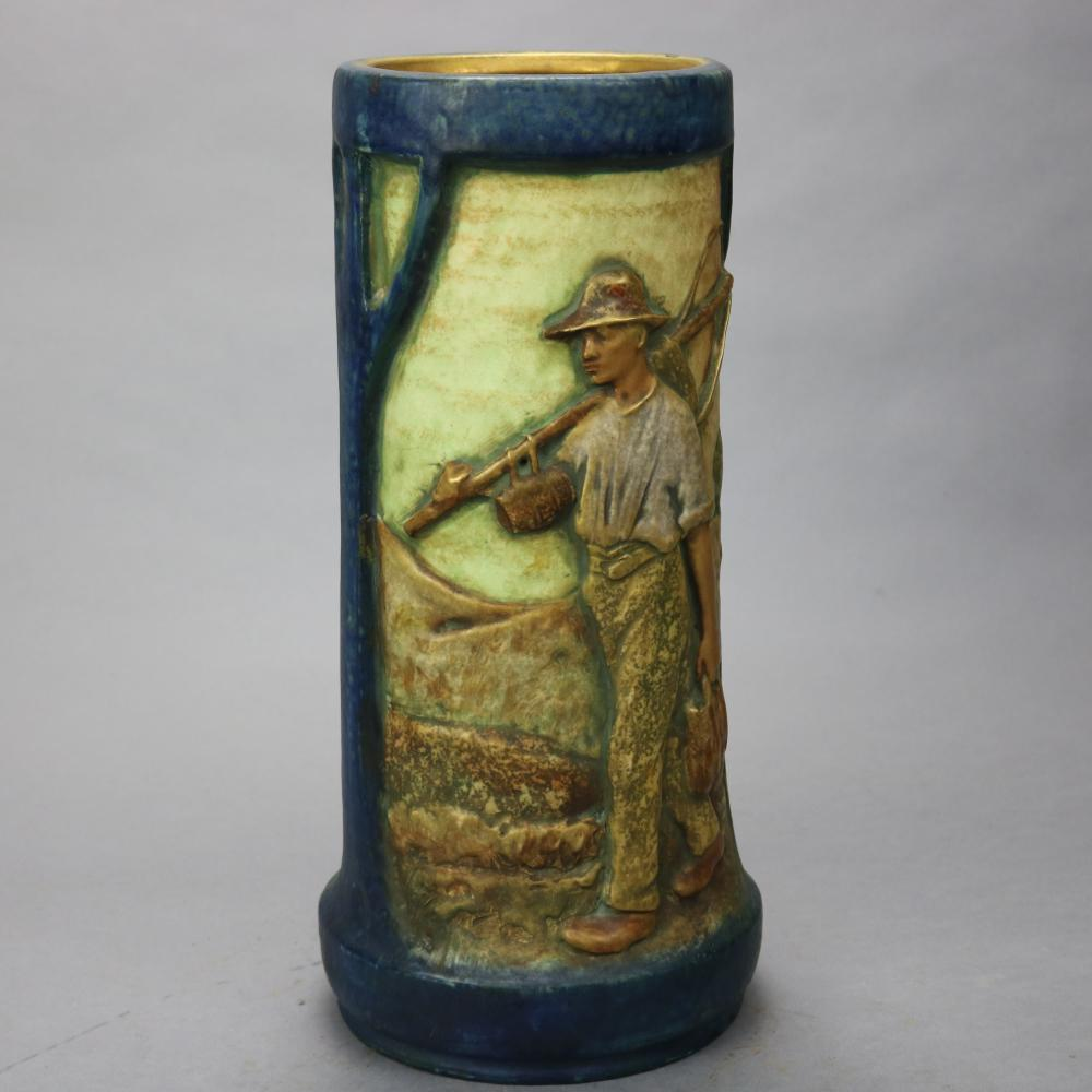 Lg Arts Nouveau Otto Brittany Farmers Amphora Templitz