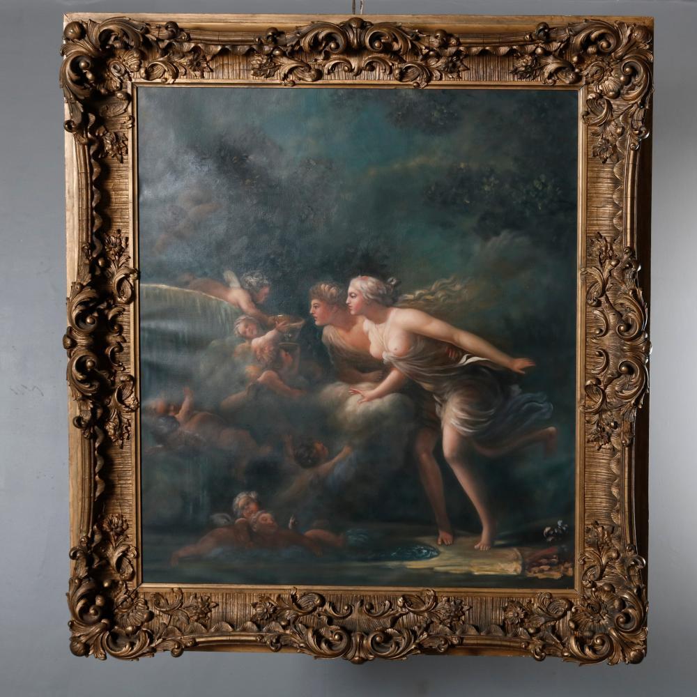 Continental Oil on Canvas Old Master after Fragonard