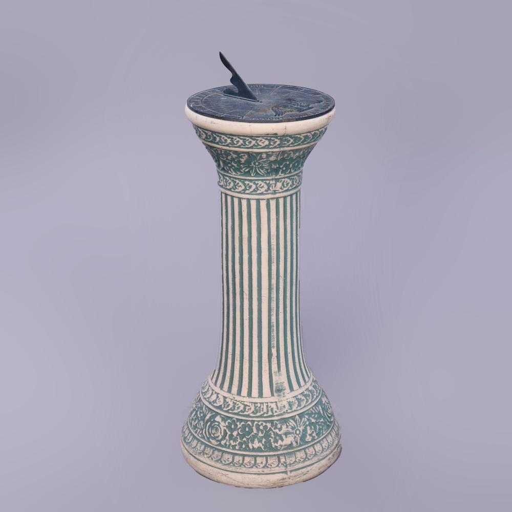 Classical Weller Pottery Sundial Circa 1920