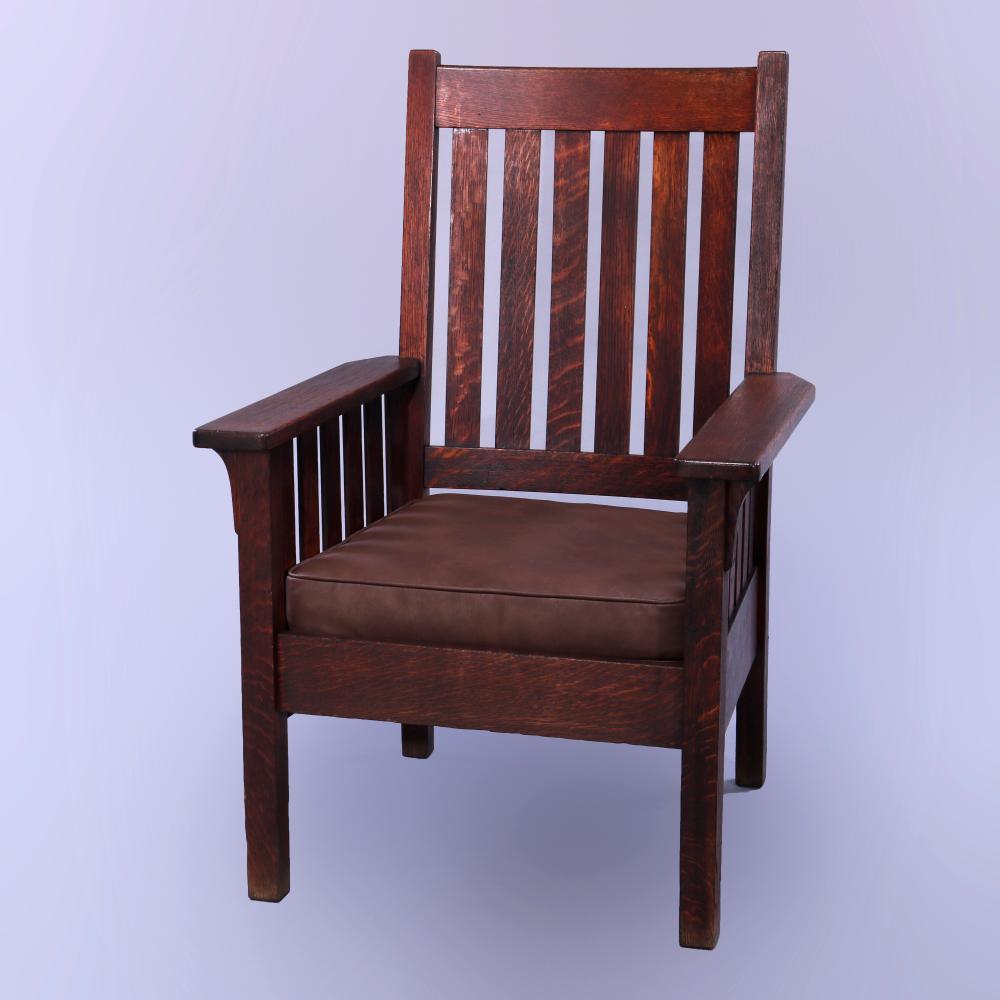 Antique Arts & Crafts Stickley Bros Mission Armchair