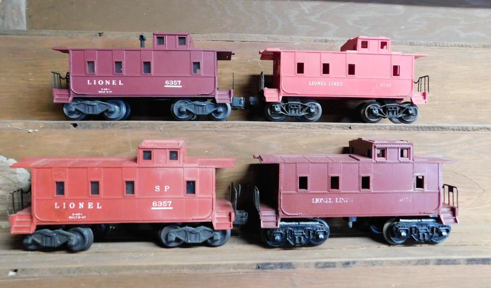 Lot of 4 Caboose--6357, 6047, 6037, and 6357
