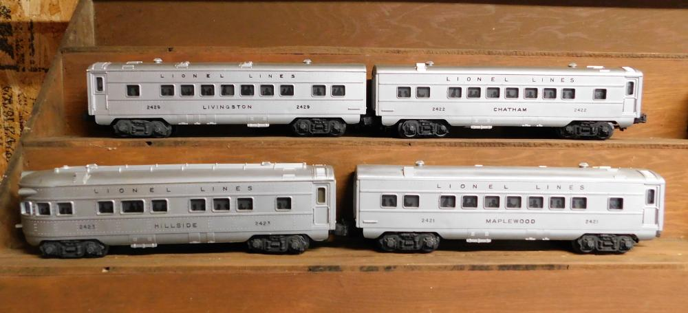 Lionel 2423 locomotive engine with 3 cars