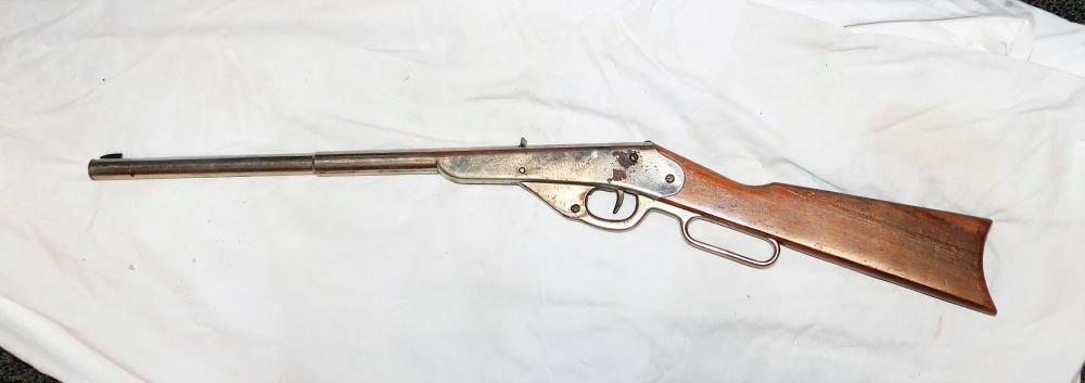Daisy 500 Shot Model H Nickel plated BB gun
