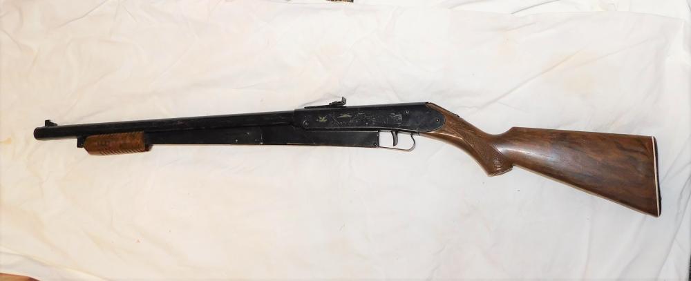 Daisy model 25 pump bb gun w/ gold birds