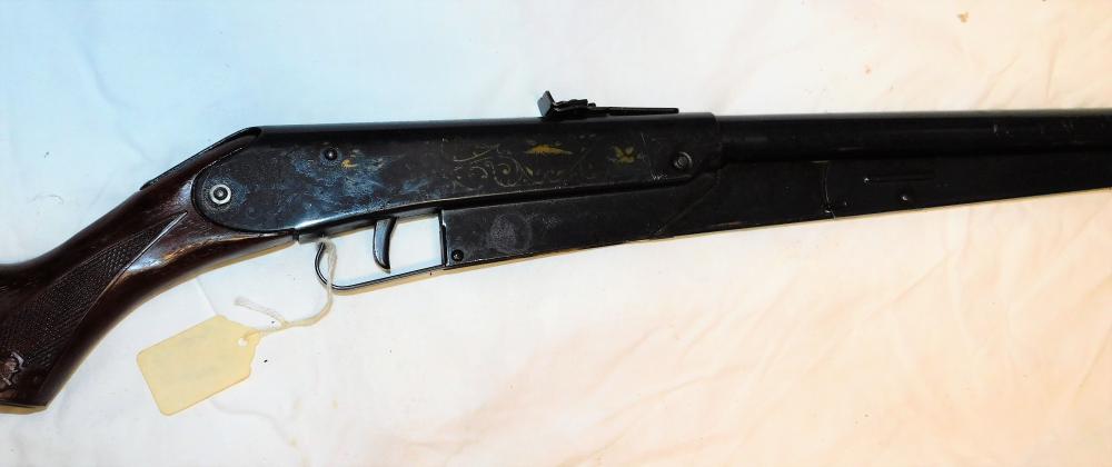 Lot 88: Daisy model 25 bb gun-gold birds