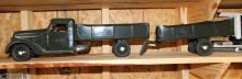 Lot 104: Buddy L 1930's Army truck and trailer-Restored