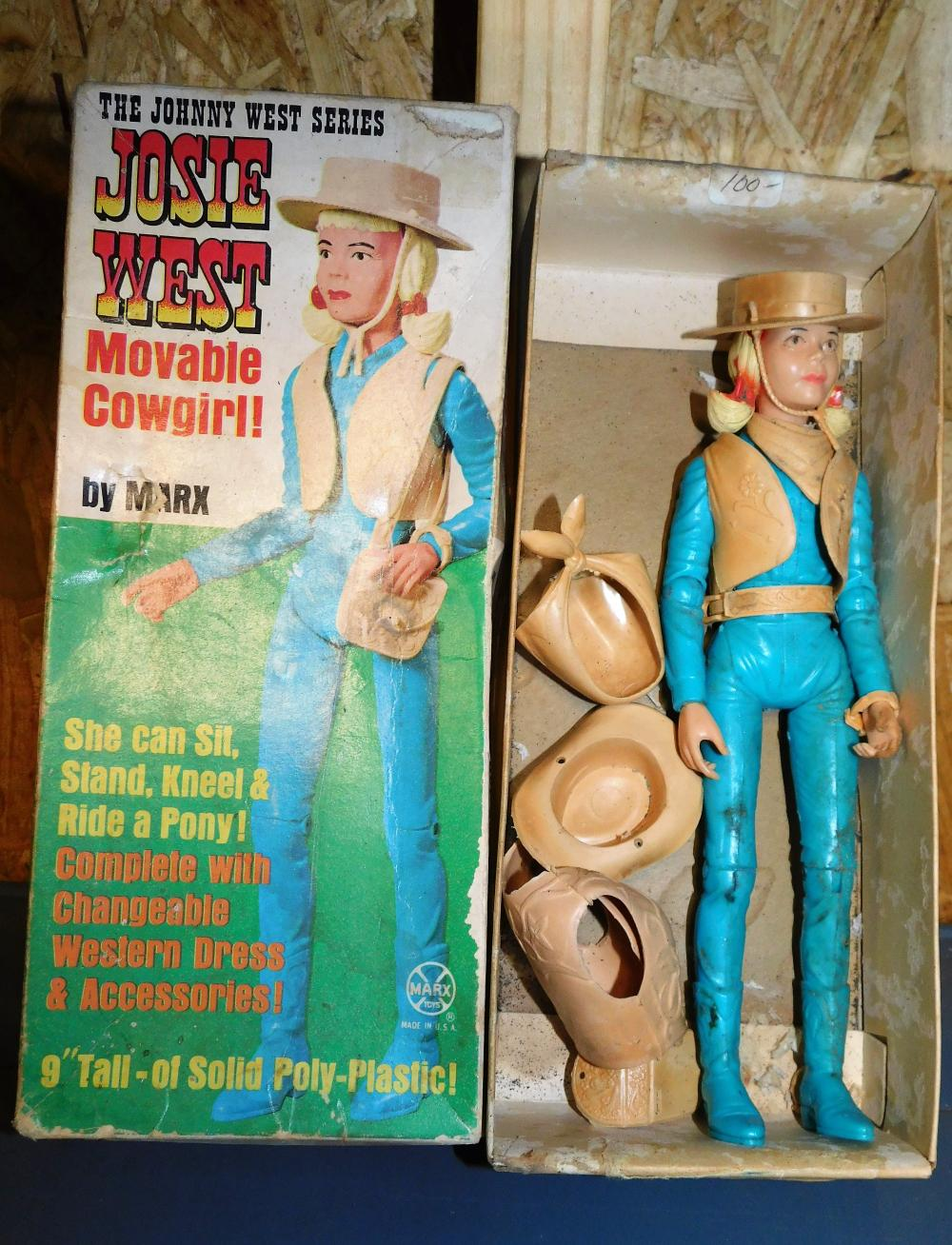 Marx Josie West moveable cowgirl with accessories