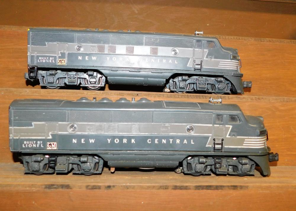 Lionel New York Central 2333 and New York 2344 engines