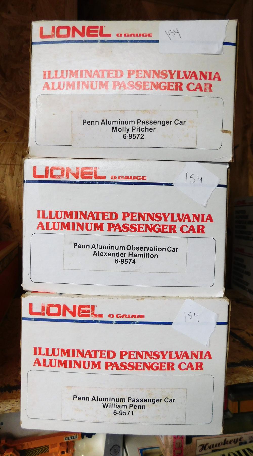 Lionel  Pennsylvania illuminated cars-