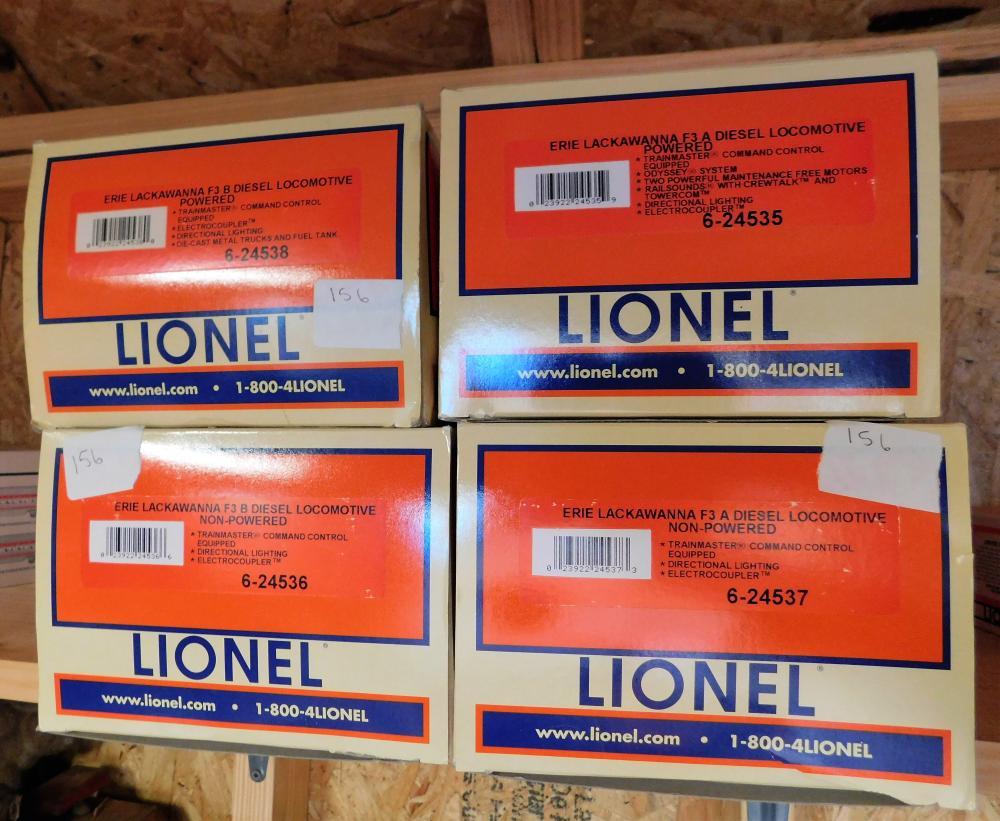Lionel Erie Lackawana 6-24538, 6-24536, 6-24537, 6-24535