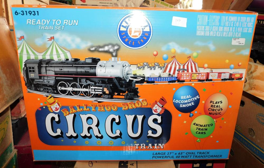 Lot 162: Lionel circus train ready to run 6-31931