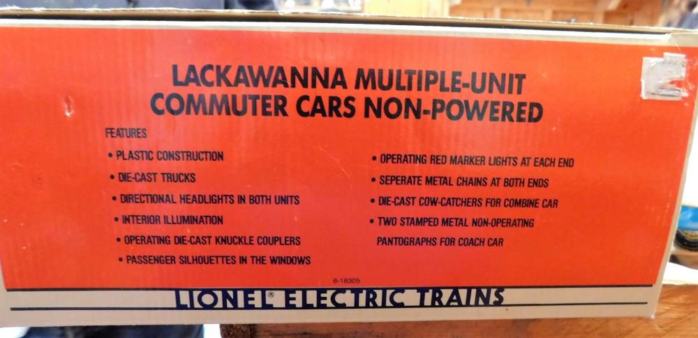 Lot 182: Lackawanna multiple unit commuter cars- 6-18305