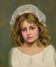 Jean Baptiste Felix France - Young Girl in a White Bonnet