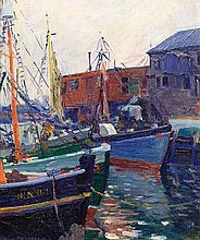 William Malherbe- Fishing Boats at Harbor