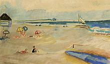 Ethel Louise Paddock - Day at the Beach