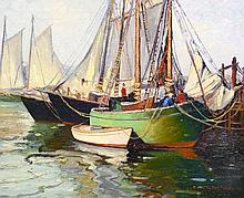 Gordon Benjamin Mess - Harborfront Reflections, 1936