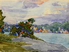 Mary Evelyn Wrinch - Village by the Shore