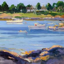 Keith Oehmig - At Steamboat Wharf, Bailey Island