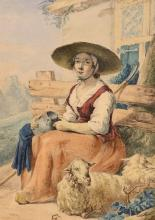 Jacob van Strij - Lady with Sheep