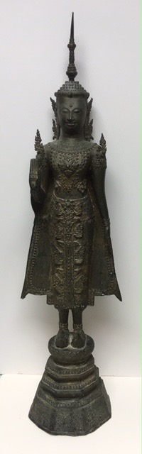 19th century bronze buddha statue 100 cm high