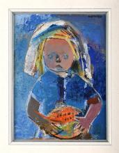 Kanelba (Kanelbaum) Rajmund (1897-1960) - Girl with a Watermelon