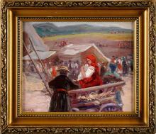 Leon Kowalski (1870 -1937) - Scena rodzajowa