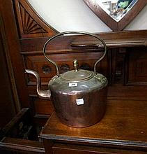 Victorian large copper kettle