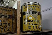 Large Australia Edwards Ensign tea tin