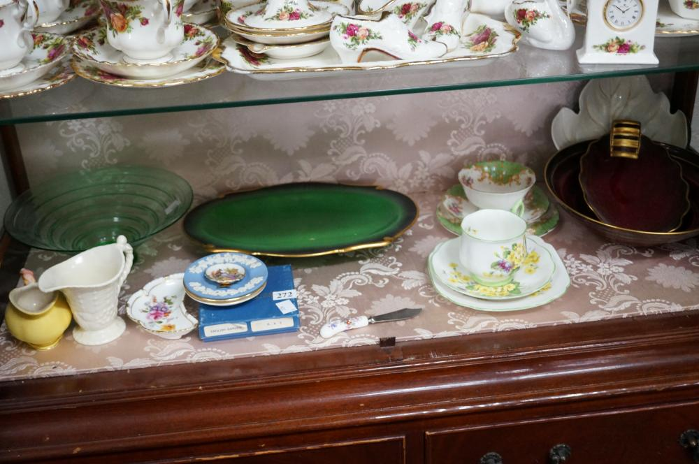 Assorted English china carltonware, R/Albert etc