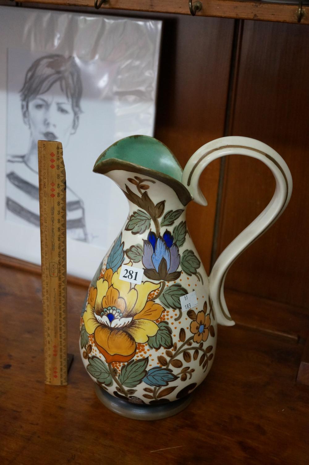 Large Dutch Gouda jug 30 cm high