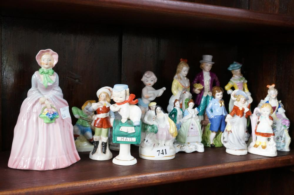 Rare Carltonware h/painted figure 18 cm high & assorted C19th & later figures