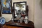 Large Victorian cedar toilet mirror 100 cm wide