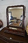 C18th burr walnut Queen Anne toilet mirror