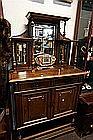 C19th French walnut mirror back cabinet 180 cm hig