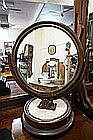 Vic mah round pedestal toilet mirror on marble bas