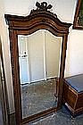 Large French carved oak 176 cm tall mirror