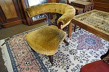 Early C19th carved mah fluted leg office chair