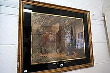 Vic print with black glass gilded mount, The